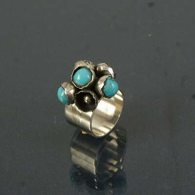 Antique Women 925 Silver Turquoise Wholesale Handmad Jewelry Wedding Ring Size 6