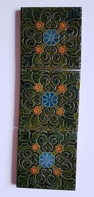 Three Gothic Minton and Hollins tiles
