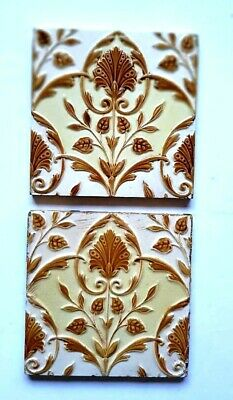 Two Arts and Crafts style Minton and Hollins tiles