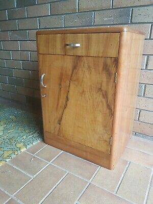 Art Deco Antique Bedsider Potty cupboard Restored