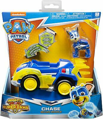 PAW Patrol Mighty Pups Super Paws - Chase Deluxe Vehicle with Lights and Sounds