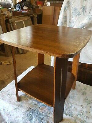 Art Deco Antique Occasional Table Side Table Walnut Restored C1935