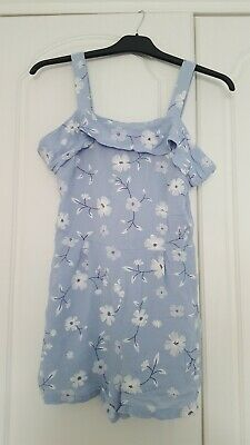 Girls NEW LOOK 915 GENERATION Summer Shorts Playsuit Age 11 years blue floral