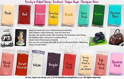 Fondant Sugar Paste Rolled Icing | Cocoa Brown | Cake Craft Bargain 1,2,5 KG