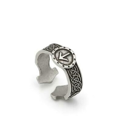 Men Norse Viking Celtic Rune Rings Adjustable Rings Amulet Runic Nordic Celtic R
