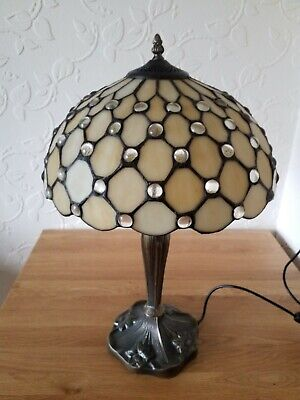 bhs large tiffany style table lamp