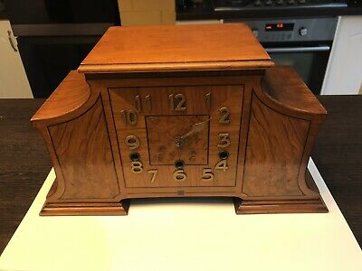 Art Deco Veneer Westminster chiming And Striking mantel clock