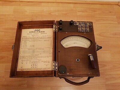 Antique Tester G.E.C General Electric co Dynamometer wattmeter