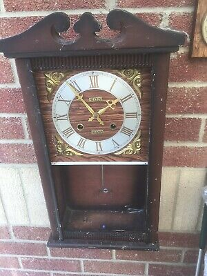 vintage pendulum wall clock For Parts