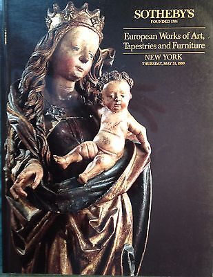 Sotheby's Catalog European Art Tapestries Furniture Sculpture Carving 1990 NY