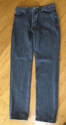 """Next Men's Grey Slim Tapered Jeans - Size 34"""" W Extra Long 35""""L"""