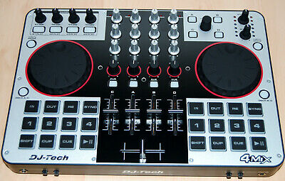 DJ-Tech 4Mix *** 4 DECKS USB DJ-CONTROLLER / NEW (unused)