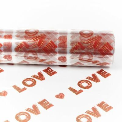 100m LOVE Cellophane Clear Plain 80cm Roll Valentines Hamper Flower Gift Film