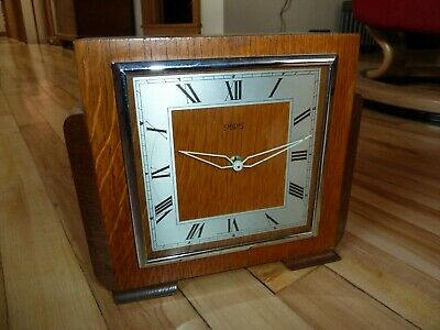 4x working art deco vintage mantle clocks (Smiths, Westclox, Solo)