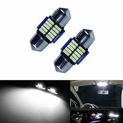 2 x navette 28 mm c5w led 10 smd Canbus anti erreur odb blanc pur 6000k Ampoules