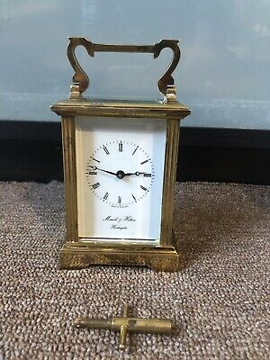 Antique Morrell & Hilton Huntington 8 Day Brass Carriage Clock With Working