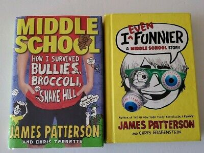 James Patterson Lot of 2 Hardcover Books Middle School ~ I Even Funnier