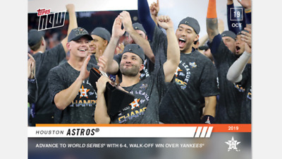 2019 Topps Now Alcs Card Houston Astros #1037 Advance To World Series With Win