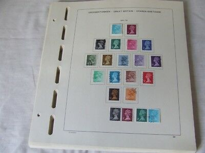 Great Britain 1971-85 Used Stamp Collection On Schaubek Illustrated Album Leaves