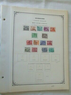 Germany Berlin Used Stamp Collection On Yvert Illustrated Album Pages