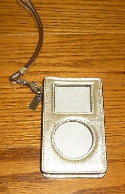 Coach gold Apple Ipod Classic Wristlet case, used, EXCELLENT condition