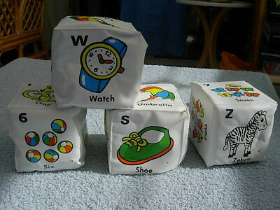 4  Cubed , Counting / Word association,  Bath Toys