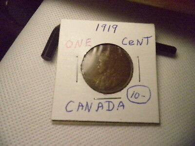 1919 Canada Large One Cent Penny.