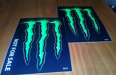 2 (TWO)  - 3x4 MONSTER ENERGY decals stickers, buy two sets get a free gift