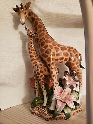 Beautiful Fitz and Floyd Giraffe with Baby - estate piece