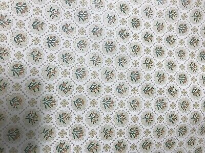 Classic Country Cream Antique Floral Wallpaper Vintage 1900's