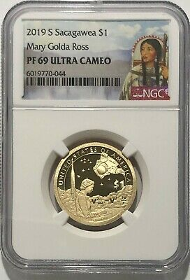 2019 S Sacagawea $1 Mary Golda Ross First Day Of Issue NGC PF70 Ultra Cameo 1st