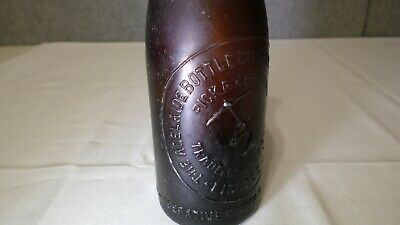 Amber Pick Axe Brand Adelaide Co-Operative Beer Bottle