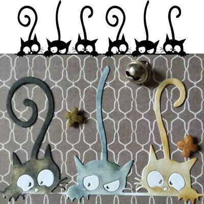 Lovely Cat Metal Cutting Dies DIY Scrapbooking Embossing Album Decor Stencils