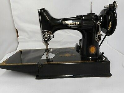 Vintage Centennial Singer Featherweight 221-1 Sewing Machine 1951 Ex w/Case