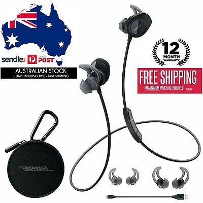 Genuine Bose SoundSport wireless bluetooth headphones sound sport earphone black
