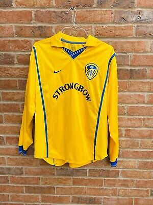 Leeds United 2000-2002 Long Sleeve Away Shirt Nike Size Large
