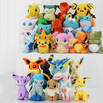 NEW Pokemon Collectible Plush Character Soft Toy Stuffed Doll Teddy Gift Toys UK