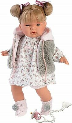 Llorens Doll Holly Crying Soft Body Toddler Girl 38cm New 38332