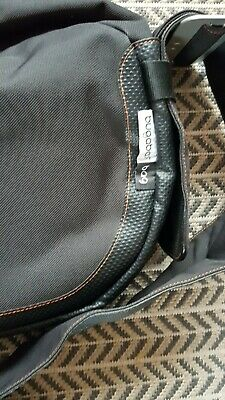 Bugaboo nappy bag in black with leather trim
