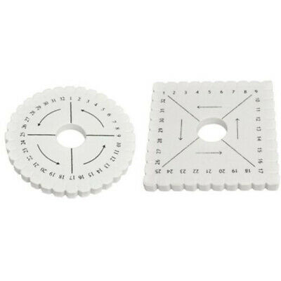 Kumihimo Round or Square Disc Disks- 10.25cm - Round & Square - lady-muck1 White