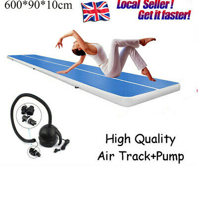 3M/6M Inflatable Air Track Tumbling Gymnastic Mat Home Floor Training Track UK