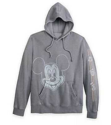 Disney Parks Mickey Mouse And Friends Hooded Pullover Sweatshirt for Men S New