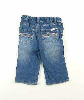 Cherokee Girls Blue Plain Cotton Jeans Age 6-7