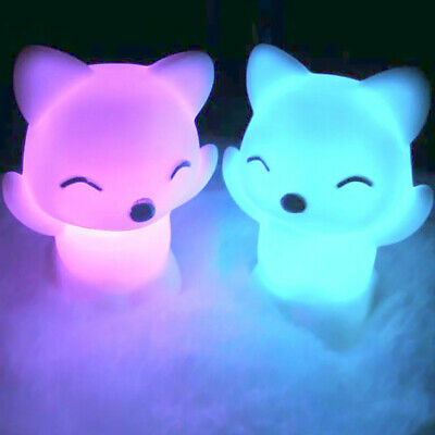 7 Changing Colors Gorgeous Lovely Fox Shape Decorations LED Night Light Lamp
