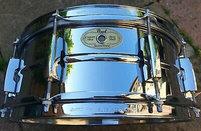 "Pearl Sensitone Steel 13"" Snare Drum"