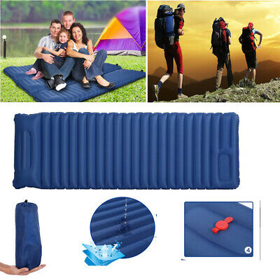 Compact Lightweight Inflatable Sleeping Mat Mattress Air Pad Roll Bed Camping f4