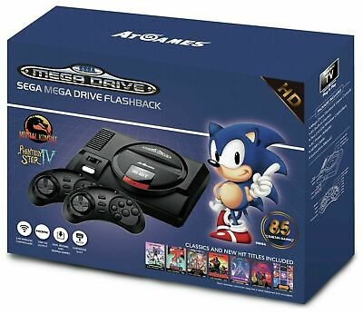 SEGA Mega Drive Flashback Console HD 720p with 2 Wireless Controllers & 85 Games