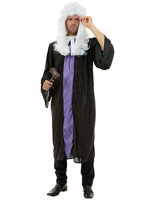 Adult HIGH COURT JUDGE Barrister Gown Legal Fancy Dress Costume Male Mens Outfit