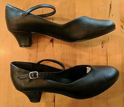 So Danca Black Character Dance Theater Shoes CH 50 Size 7.5 LNWB