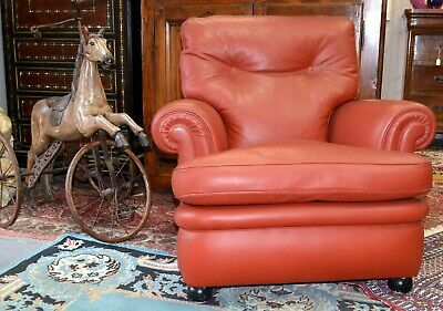 Poltrone Relax In Pelle.Poltrona Relax Frau Pelle Vintage 1960 70 Old Leater Armchair